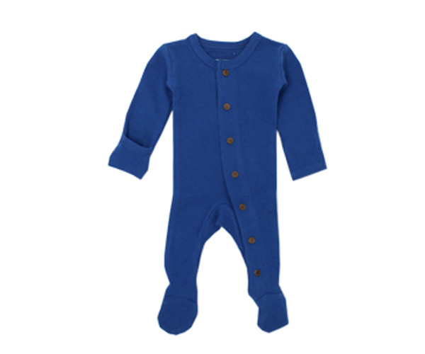 Organic Thermal Footed Overall in Sapphire, Flat