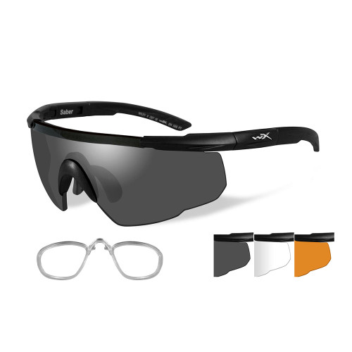 Wiley X Saber Advanced | Three Lens w/ Matte Black Frame + RX Insert