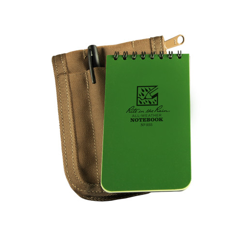 935G KIT - Tactical Notebook Green w/ Cover and Pen
