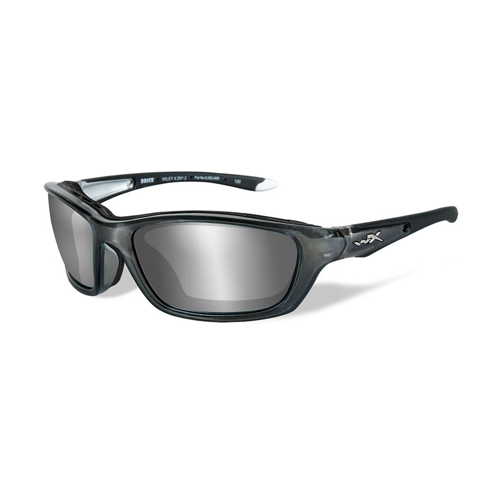 Wiley X Brick | Silver Flash Lens w/ Crystal Metallic Frame