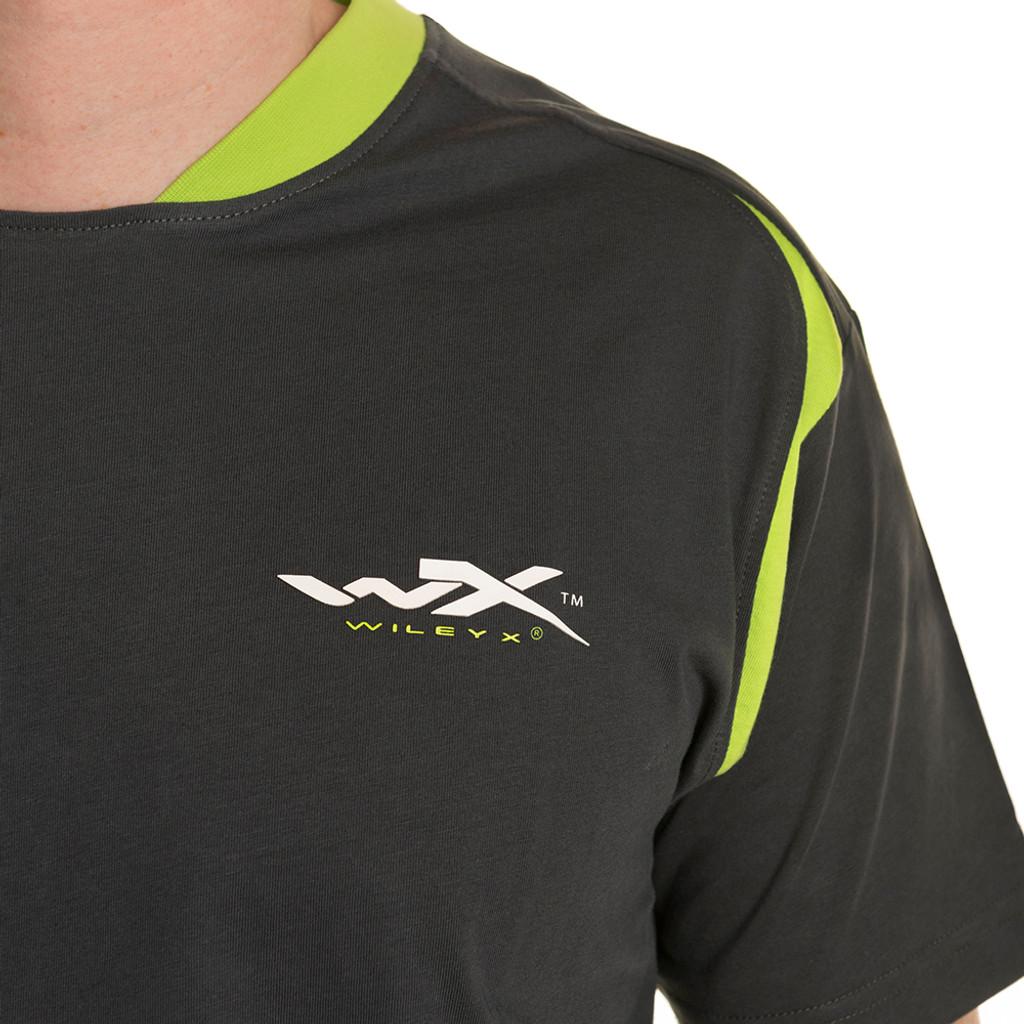 Wiley X Premium T-Shirt Charcoal w/ Flash Green