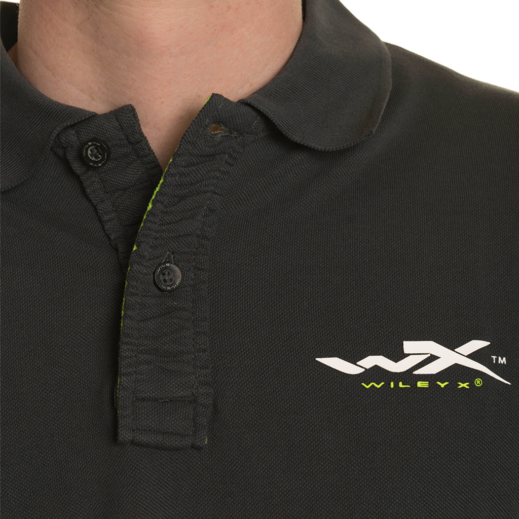 Wiley X Premium Polo Charcoal w/ Flash Green