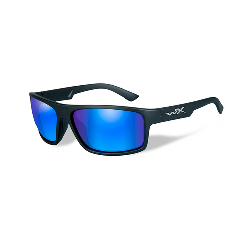Wiley X Peak | Polarised Blue Mirror Green lens w/ Matte Black Frame