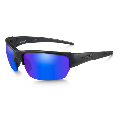 Wiley X Saint | Polarised Blue Mirror Green Lens w/Matte Black Frame