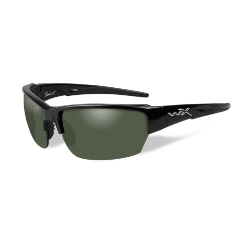Wiley X Saint | Polarised Smoke Green w/ Gloss Black Frame
