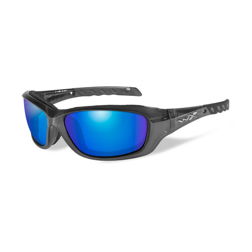 Gravity | Polarised Blue Mirror Lens w/ Crystal Black Frame