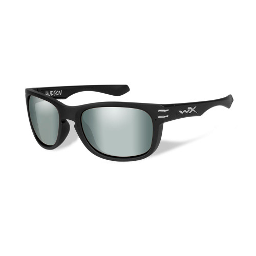 Hudson | Polarised Platinum Flash Lens w/ Matte Black Frame