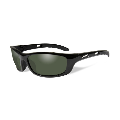 P-17 | Polarised Green Lens w/ Gloss Black Frame