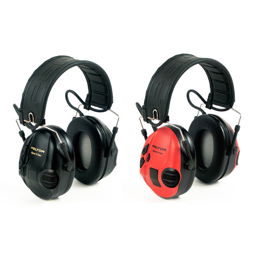 SportTac Headset Earmuff Red