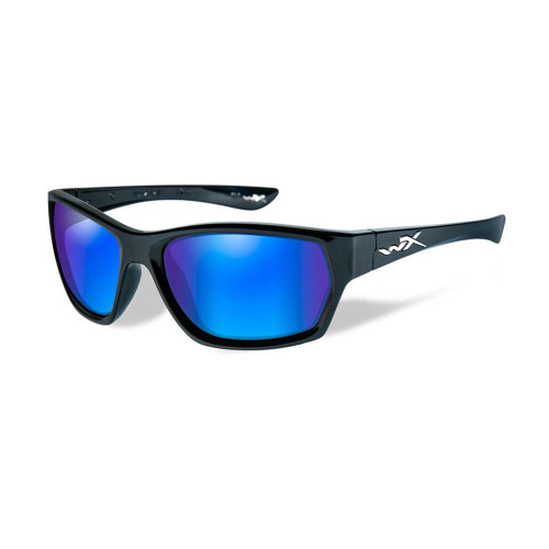 Wiley X Moxy | Polarised Blue Mirror Lens w/ Gloss Black Frame