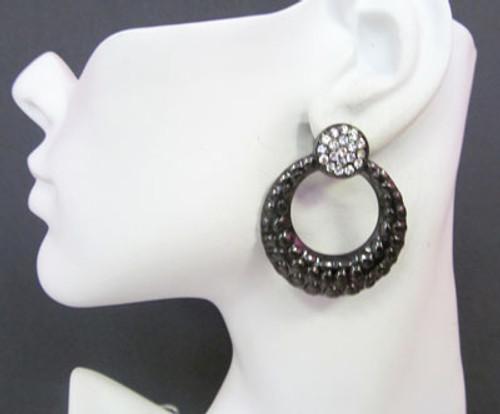 Button Earrings-12313