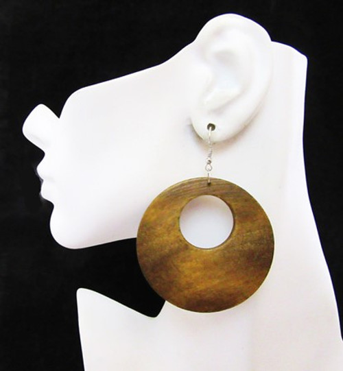 Wood Earrings-12975