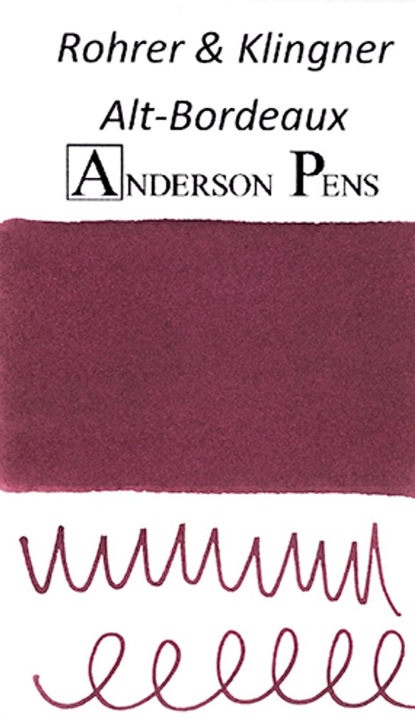 Rohrer & Klingner Alt-Bordeaux Ink Sample (3ml Vial)