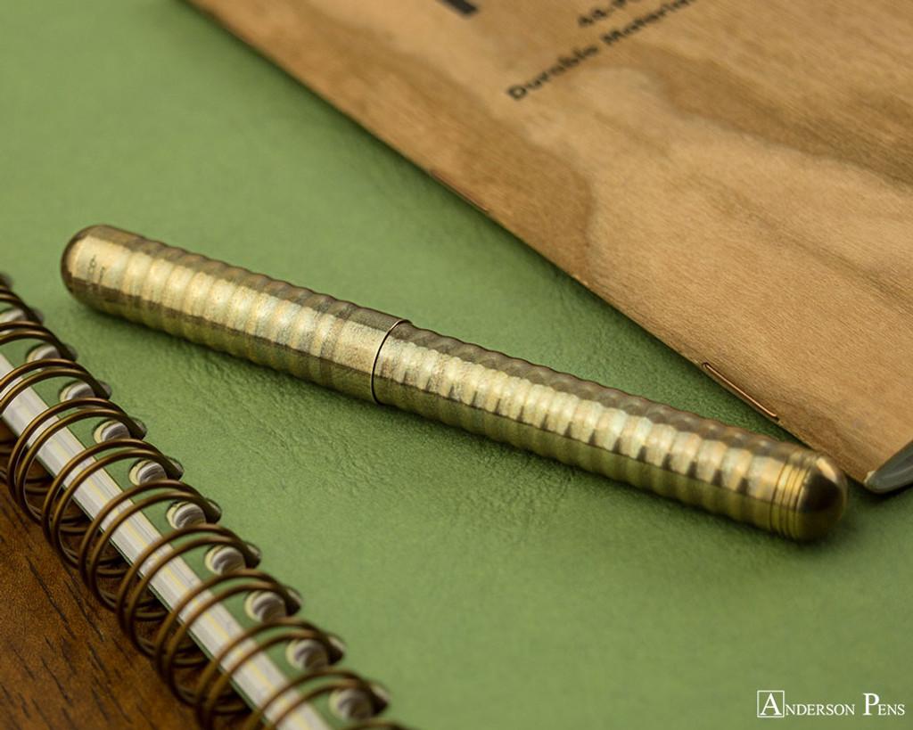 Kaweco Liliput Fountain Pen - Eco Brass Wave