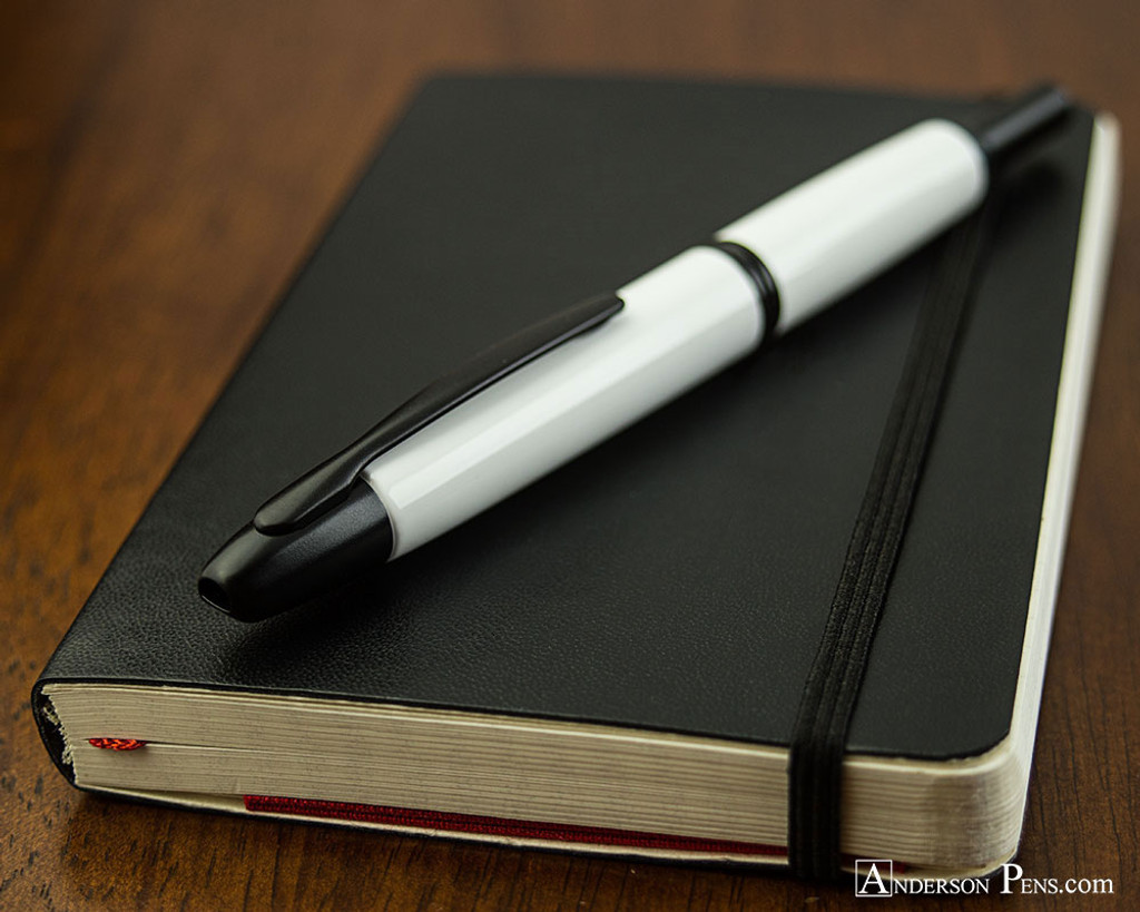 Pilot Vanishing Point Fountain Pen - White with Matte Black Trim