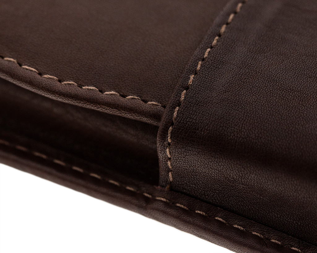 2 Pen Case Brown Leather