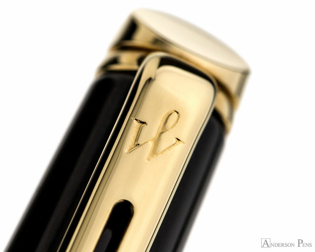 Waterman Hemisphere Black with Gold Trim FP
