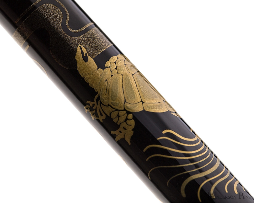 Namiki Nippon Art Fountain Pen - Crane and Turtle
