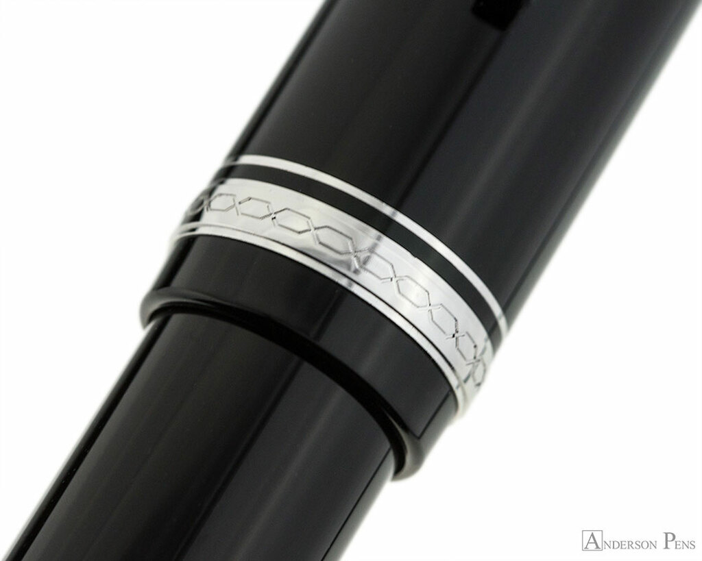 Pilot Falcon Fountain Pen - Black with Rhodium Trim