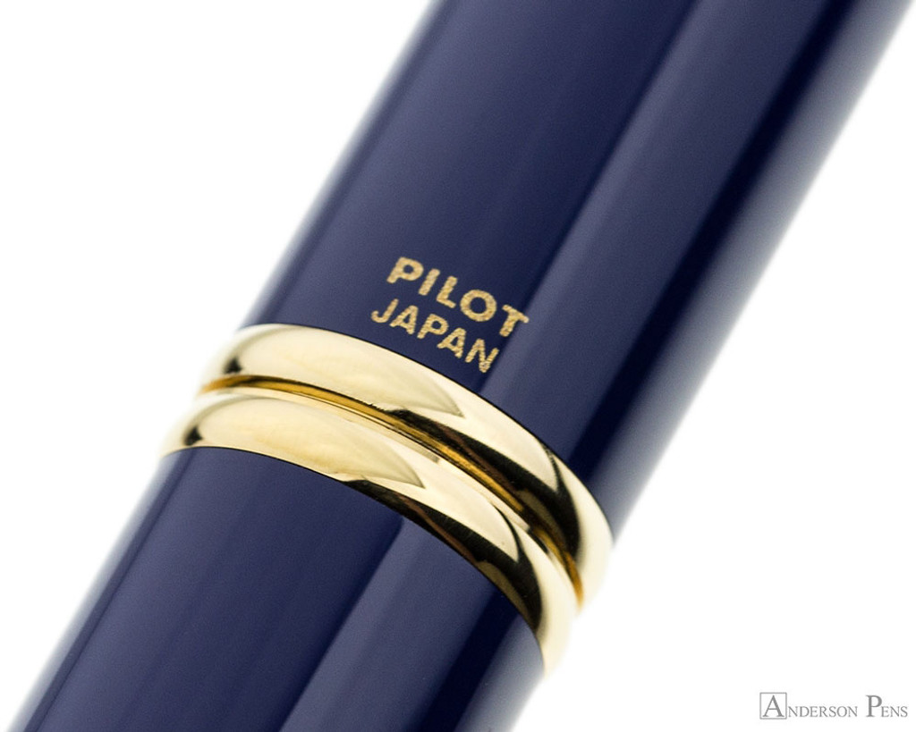 Pilot Vanishing Point Fountain Pen - Blue with Gold Trim