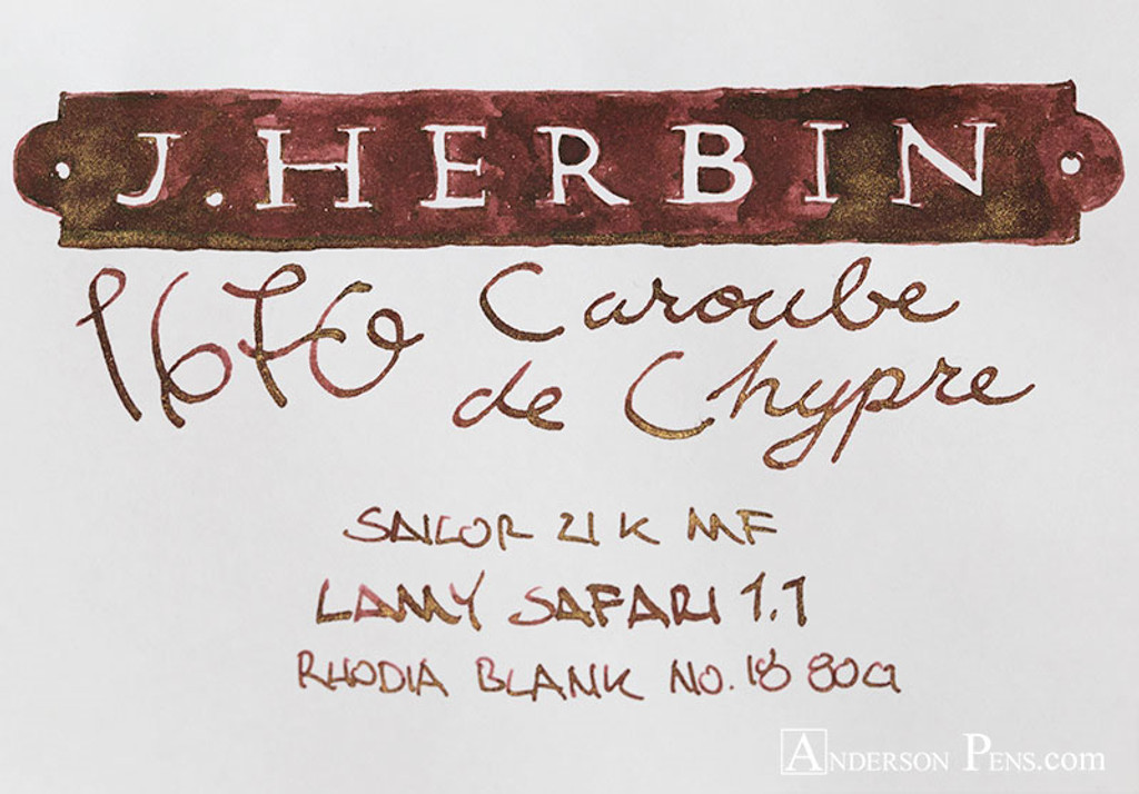 J. Herbin Caroube de Chypre 1670 Anniversary Ink (50ml Bottle)