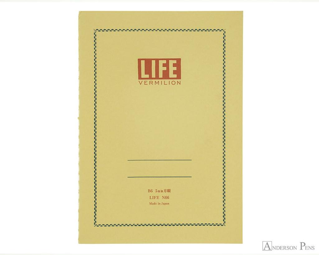 life vermilion notebook b6 5 x 7 graph paper anderson pens inc
