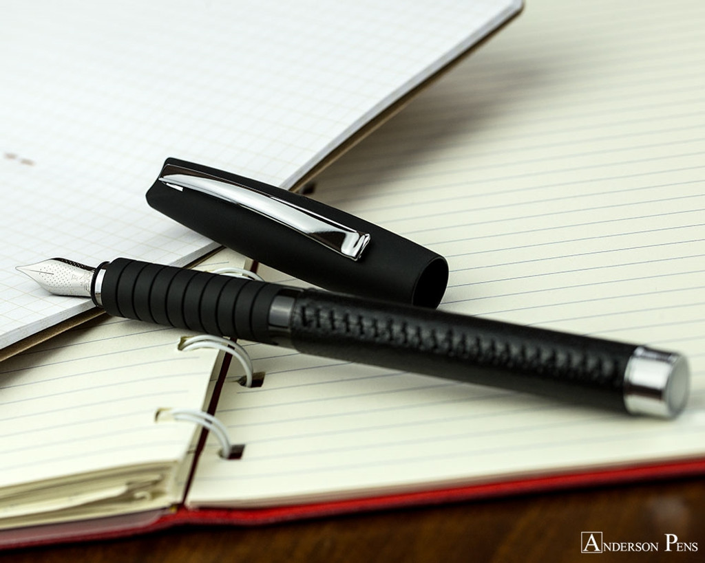 Faber-Castell Basic Black Leather Fountain Pen
