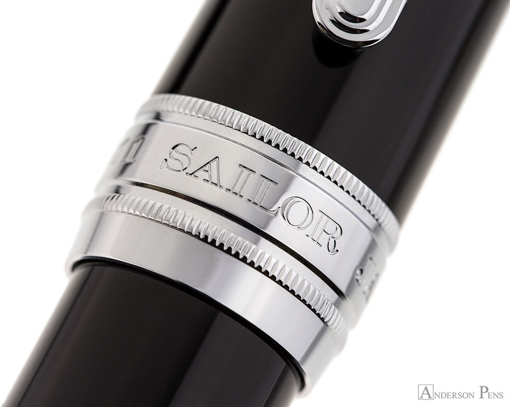 Sailor Pro Gear King of Pen Fountain Pen - Black with Rhodium Trim