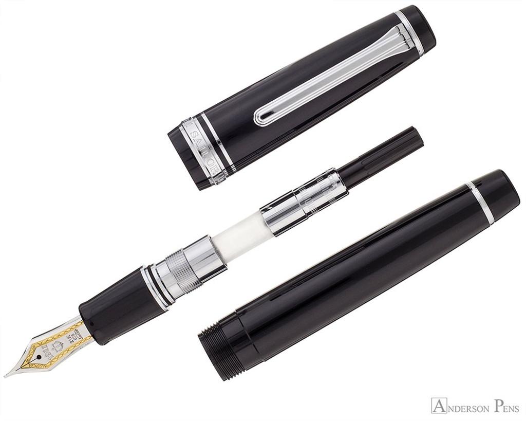Sailor Pro Gear Fountain Pen - Black with Rhodium Trim