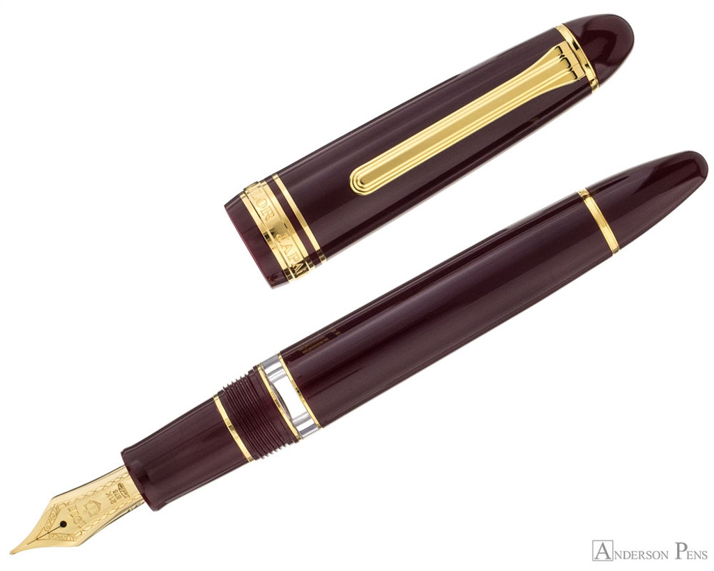 Sailor 1911 Realo Fountain Pen - Maroon with Gold Trim