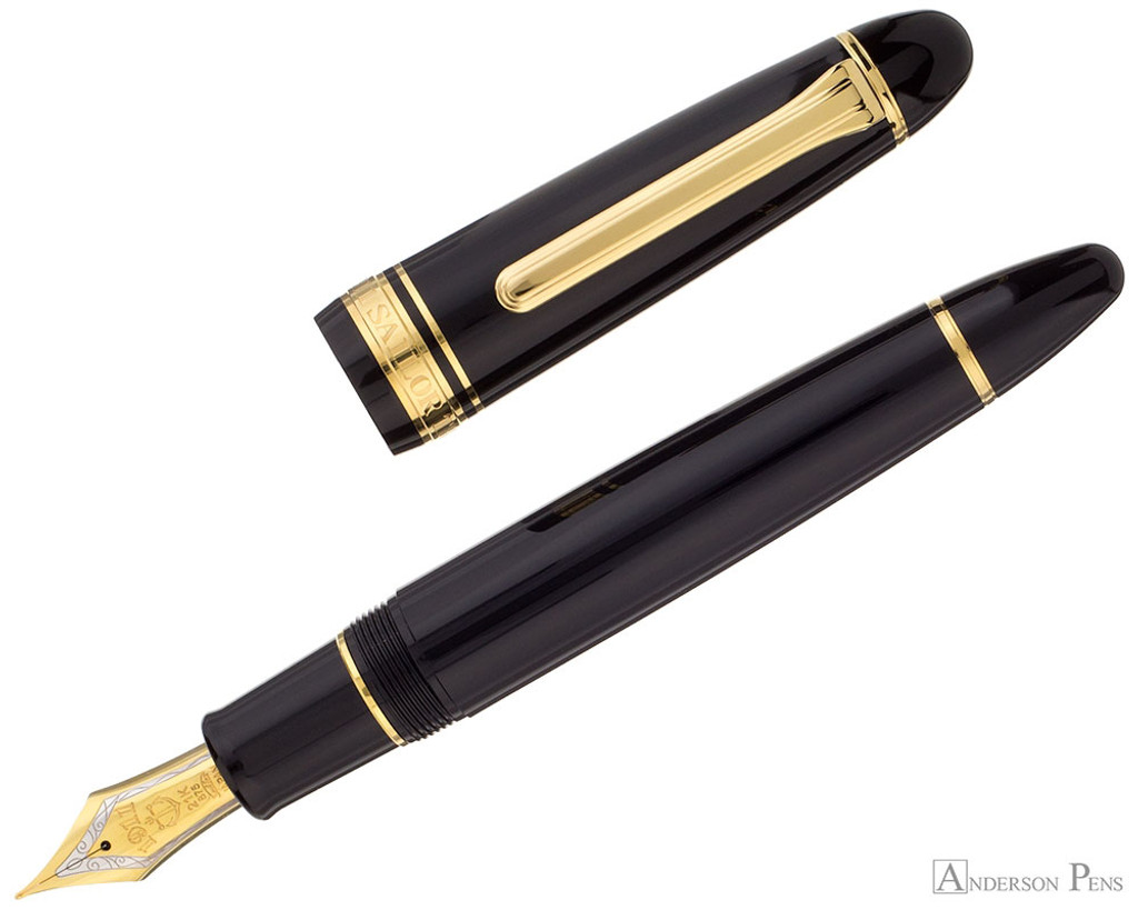 Sailor King of Pen Fountain Pen - Black with Gold Trim