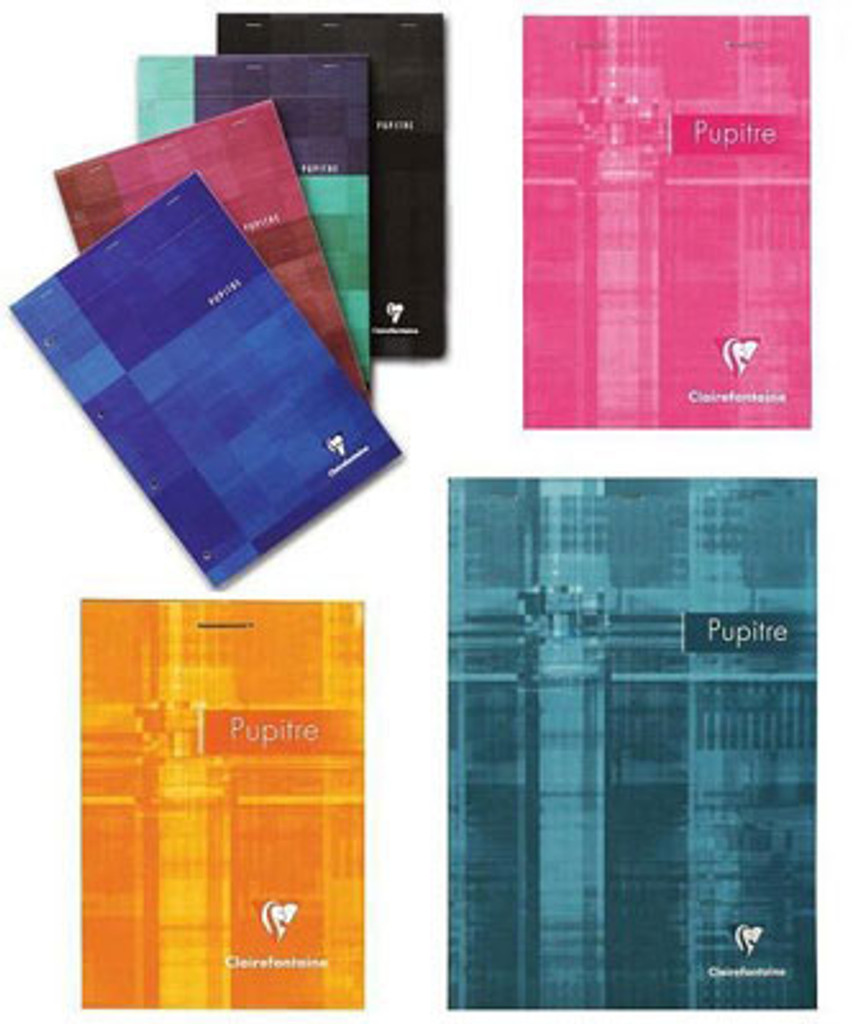 Clairefontaine Classic Top Staplebound Notepad - 6 x 8.5, Graph Paper - Assorted