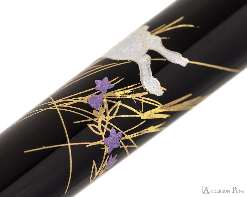 Platinum Classic Maki-e Kanazawa Leaf Fountain Pen - Moon and Rabbit