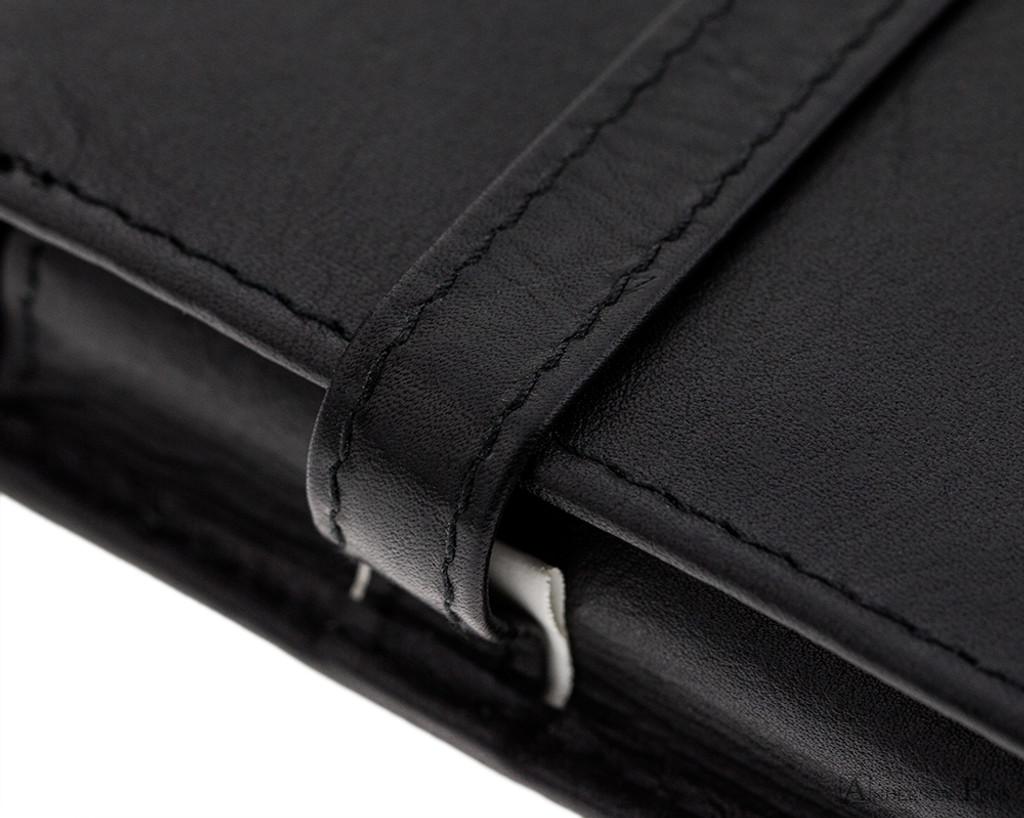 3 Pen Case Black Leather