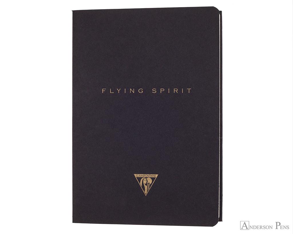 Clairefontaine Flying Spirit Stichbound - Black, A5
