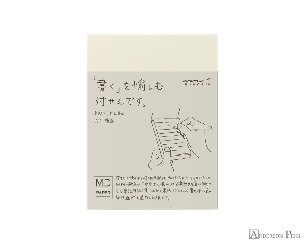 Midori MD Sticky Memo Pad A7 - Lined