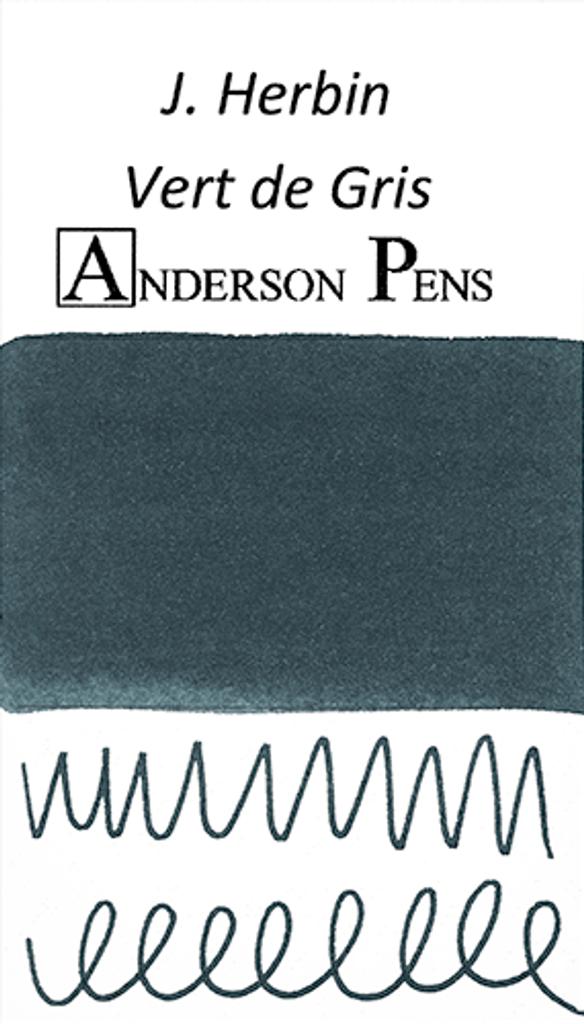 J. Herbin Vert de Gris Ink Sample (3ml Vial)