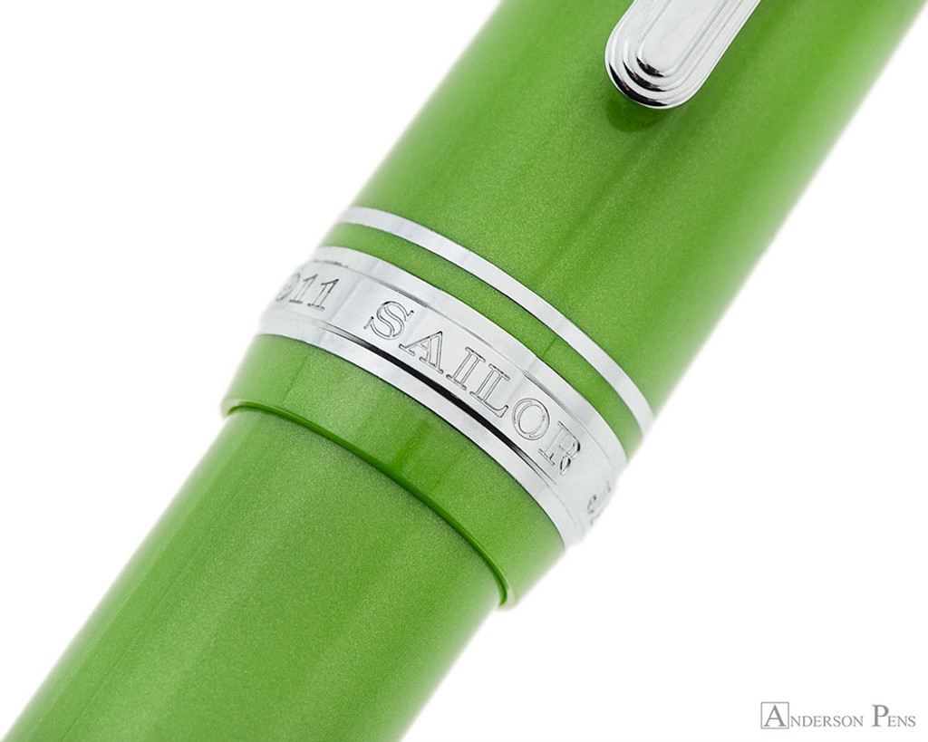 Sailor 1911 Large Fountain Pen - Key Lime with Rhodium Trim