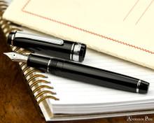 Sailor Pro Gear Slim Fountain Pen - Black with Rhodium Trim
