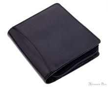 12 Pen Case Black Leather