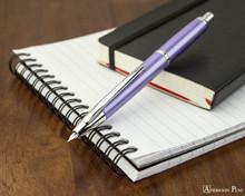 Pilot Vanishing Point Decimo Fountain Pen - Purple