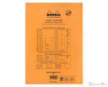 Rhodia No. 18 Notepad - 8.25 x 11.75, Blank Paper - Orange