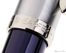 Sheaffer 100 Fountain Pen - Blue Barrel with Brushed Chrome Cap