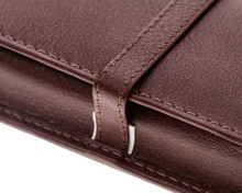 Girologio 3 Pen Case - Brown Leather