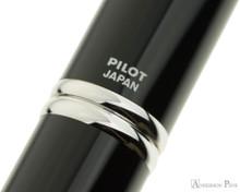 Pilot Vanishing Point Fountain Pen - Black with Rhodium Trim