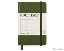 Leuchtturm1917 Notebook Mini A7 - Army, Blank