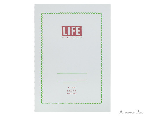 life pistachio notebook b6 5 x 7 graph paper anderson pens inc