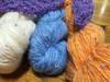 Fun glitzy colors of Tiara Yarn from Hikoo