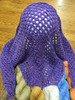 "Evelyn A. Clark's ""Lava Lace Scarf"" worked in Tiara - Amethyst 74"