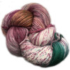 Araucania Huasco Sock Hand Paint - Pavo Real 1007 - warm green, cold and dusky plum - shades of bygone eras on a base of natural